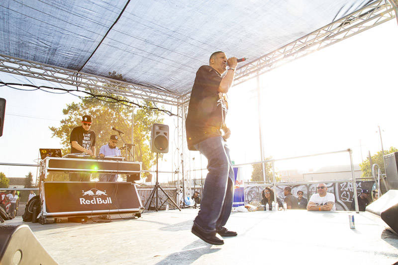 Chali 2na plays Hiero Day in Oakland on Monday, September 3, 2018.