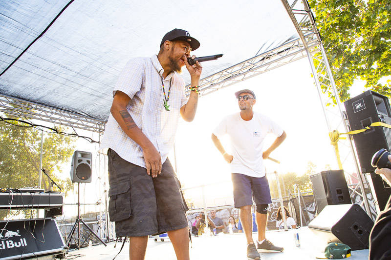 People Under the Stairs plays at Hiero Day in Oakland on Monday, September 3, 2018.