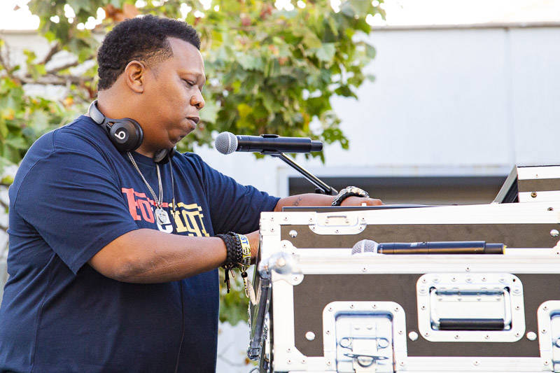 Mannie Fresh plays at Hiero Day in Oakland on Monday, September 3, 2018.