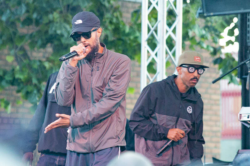 Hieroglyphics plays at Hiero Day in Oakland on Monday, September 3, 2018.