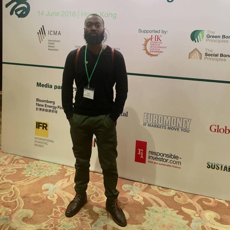 Mark Hall at the Green and Social Bond Principles Annual Conference in Hong Kong.
