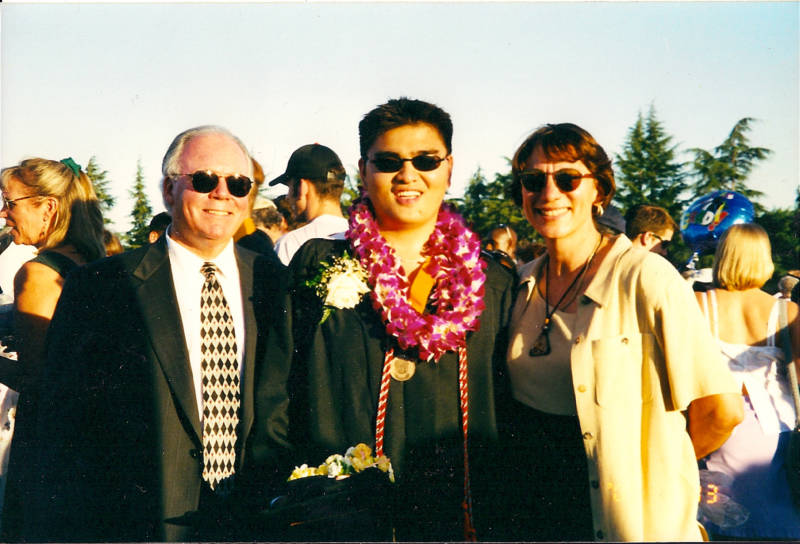 Jose Antonio Vargas at his high school graduation in Mountain View, California.