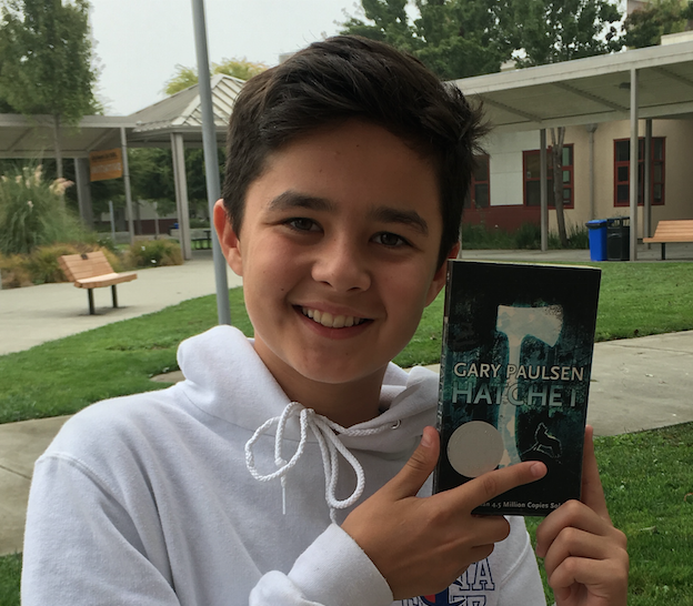 Zachary Moreno, 13, Kenilworth Junior High School, Petaluma, California