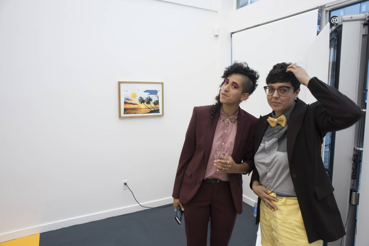 Marcela Pardo Ariza and Kat Trataris at R/SF projects' opening of 'Slow Clap' a solo show by Pardo Ariza.