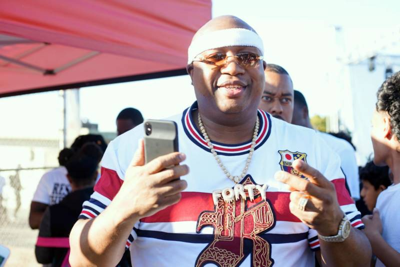 E-40 at DeFremery Park in West Oakland, Oct. 12, 2018.