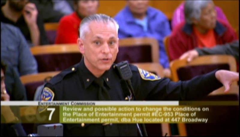 Former SFPD Central Station Captain David Lazar appears before the Entertainment Commission in 2017.