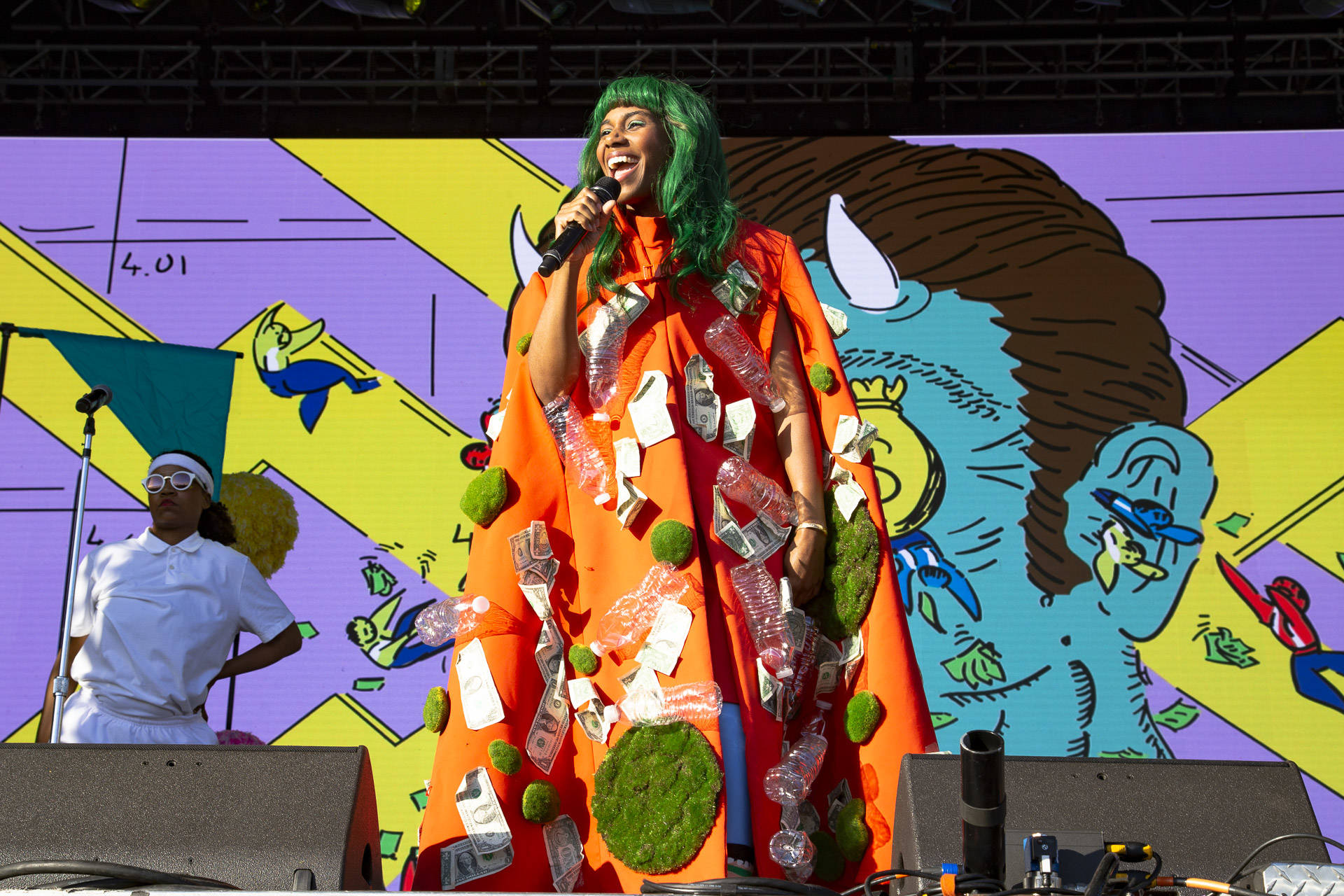 Santigold performs at Treasure Island Music Festival on Oct. 13, 2018.  Estefany Gonzalez
