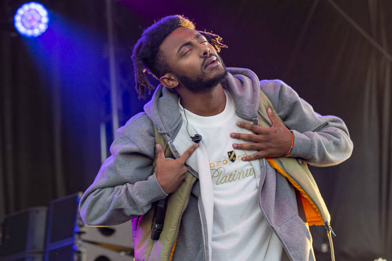 Aminé performs at Treasure Island Music Festival on Oct. 13, 2018.