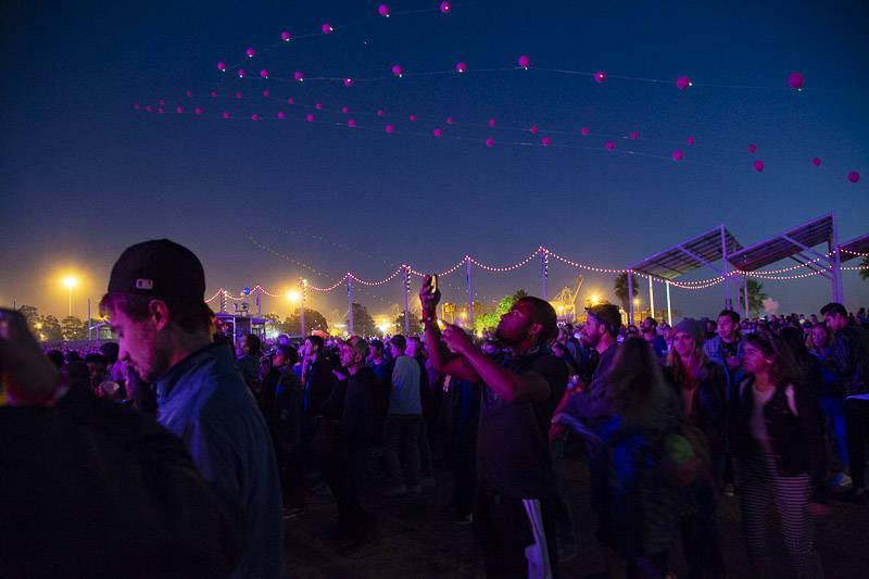 The crowd at Treasure Island Music Festival 2018.