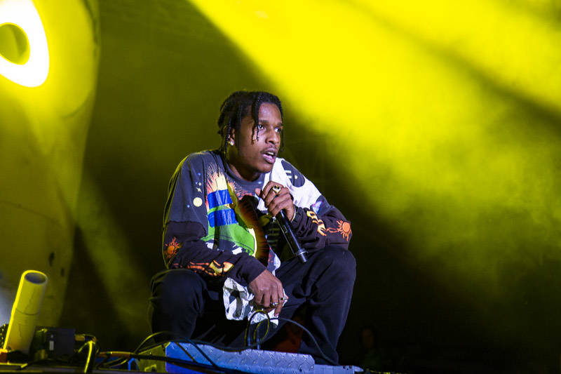A$AP Rocky performs at Treasure Island Music Festival on Oct. 13, 2018.