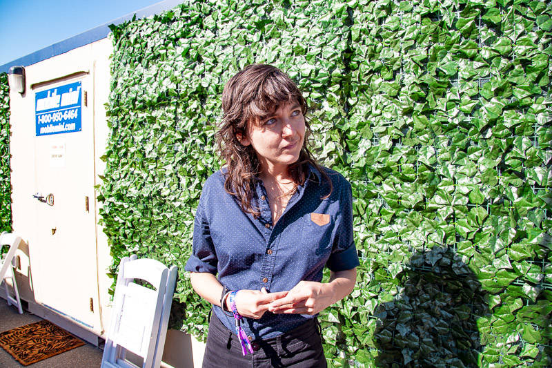 Courtney Barnett backstage at Treasure Island Music Festival on Oct. 14, 2018.