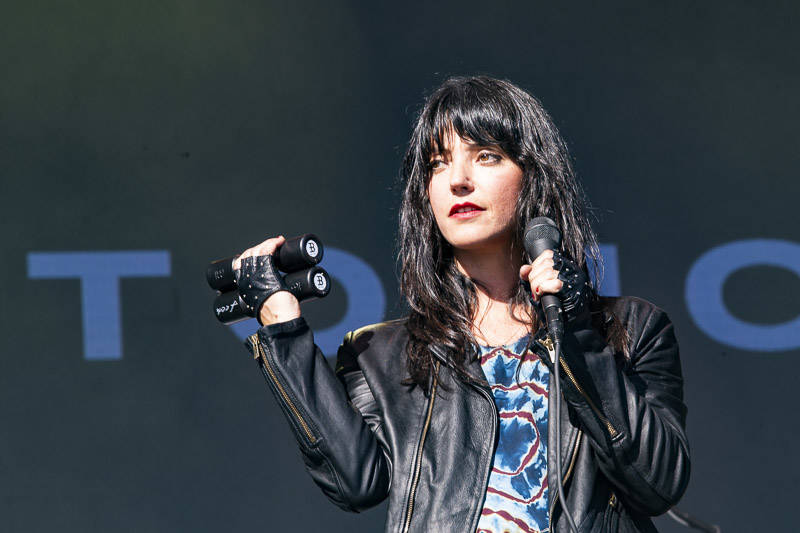 Sharon Van Etten performs at Treasure Island Music Festival on Oct. 14, 2018.