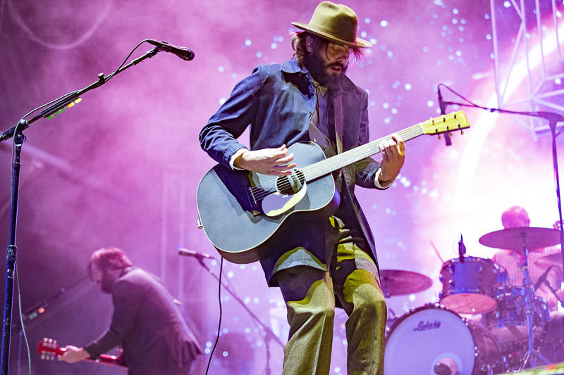 Lord Huron perform at Treasure Island Music Festival on Oct. 14, 2018.