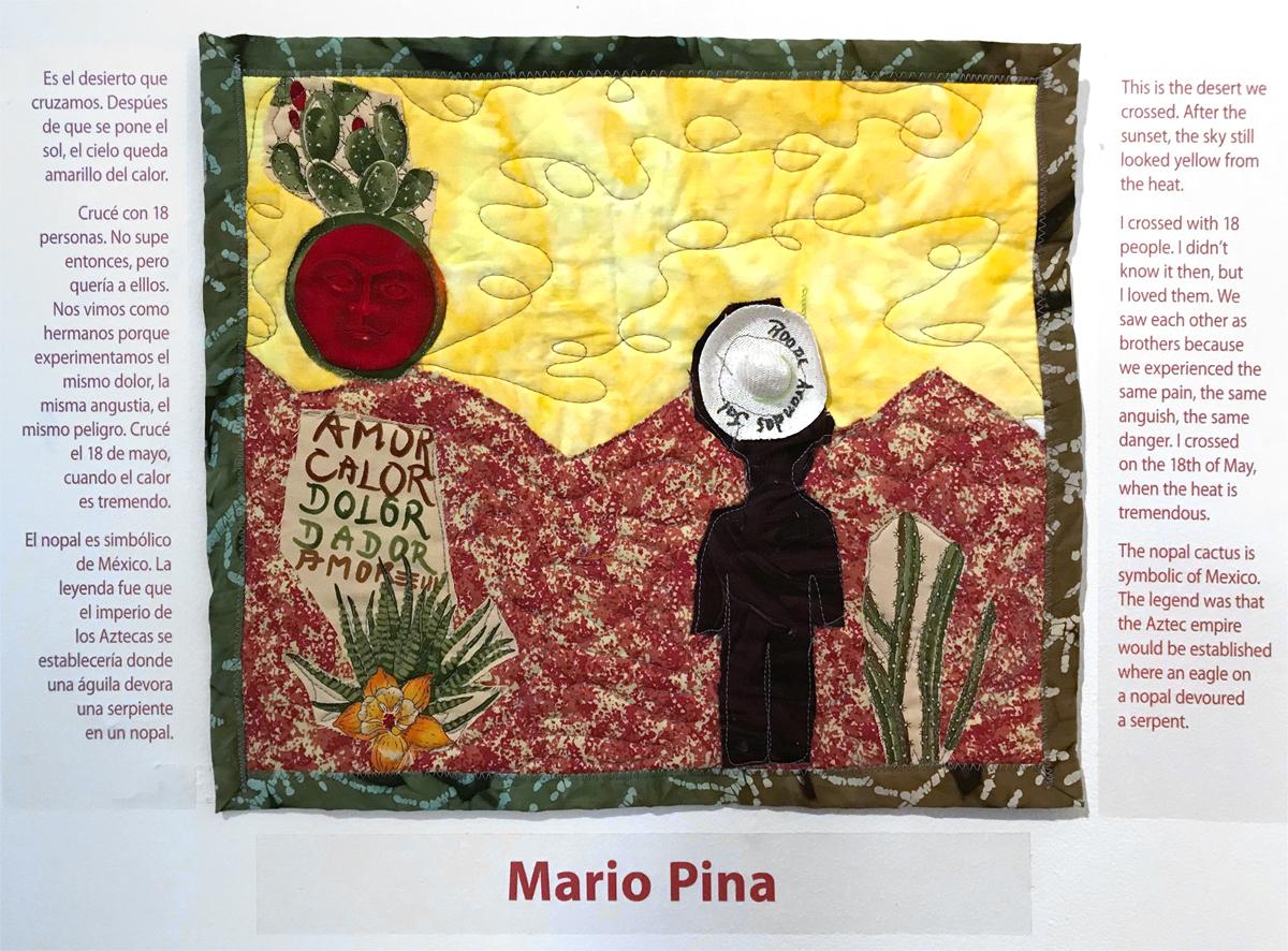 A textile by Mario Pina.