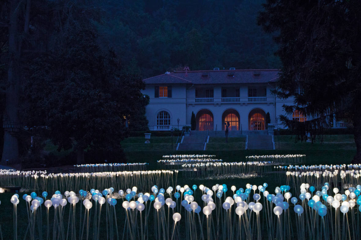 Bruce Munro's Narnian Fantasies Light Up Montalvo Arts Center