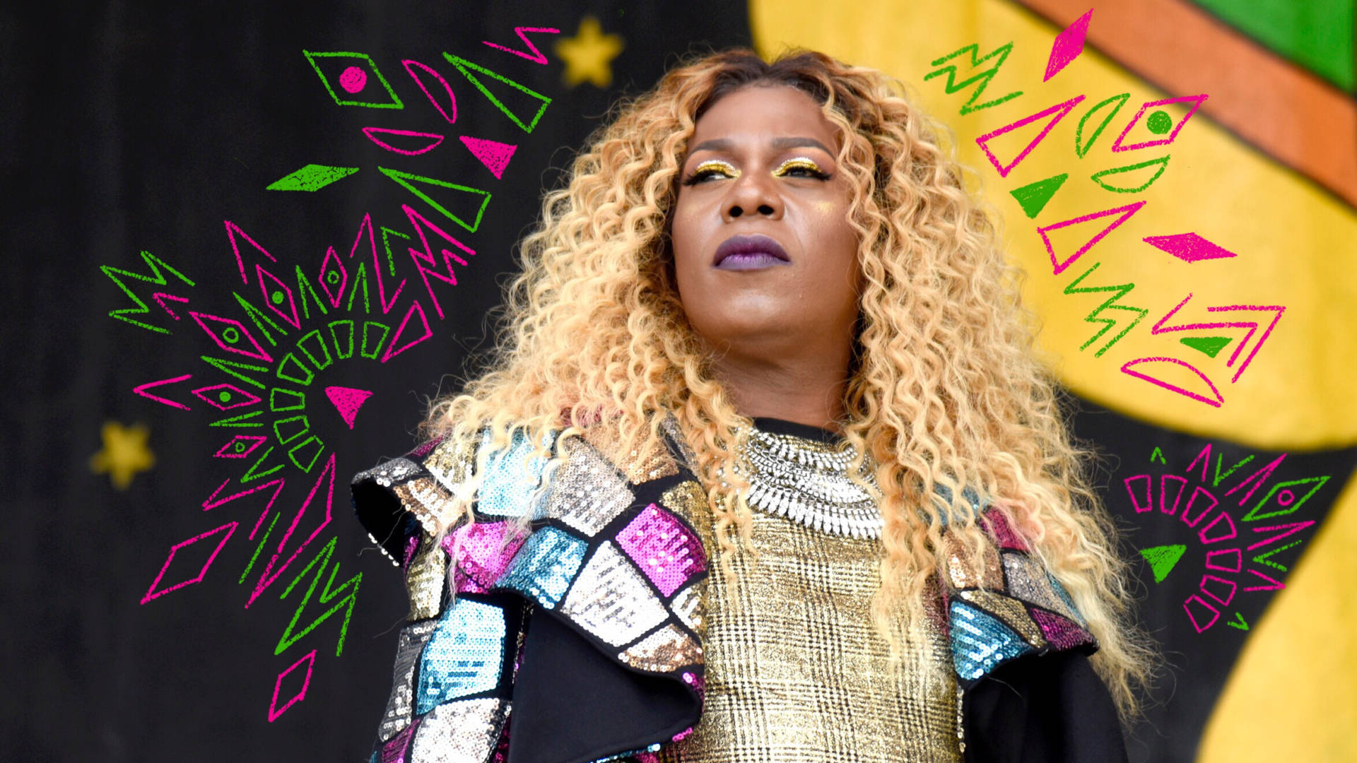 Big Freedia performs during the 2018 New Orleans Jazz & Heritage Festival in New Orleans.