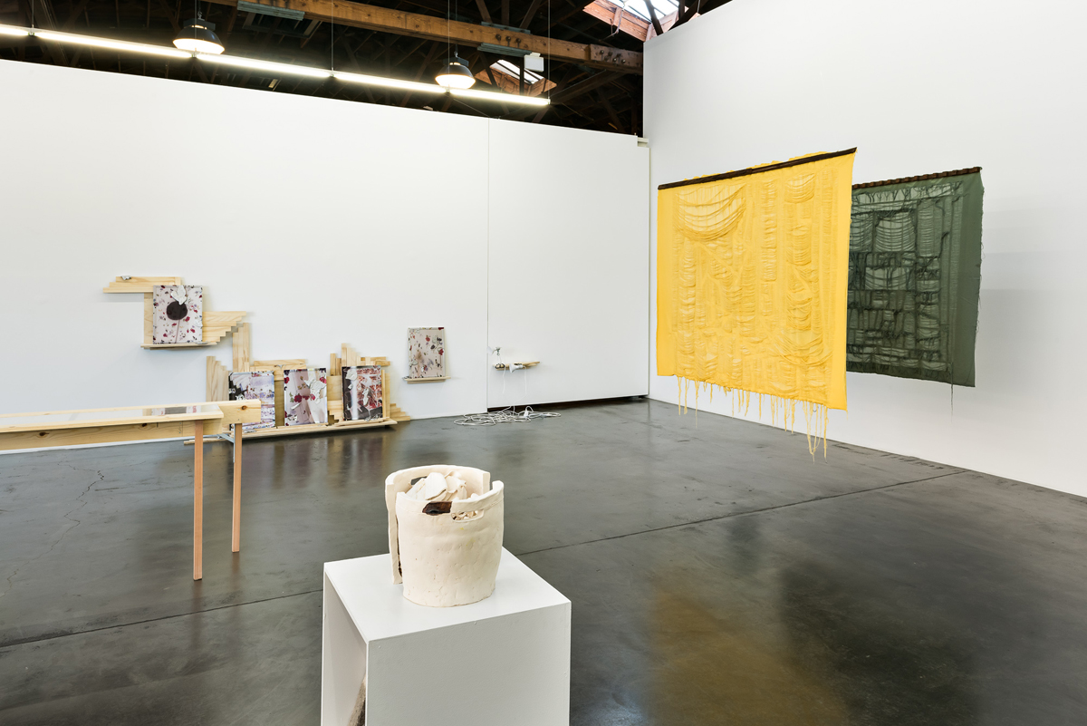 Installation view of 'Seven Places of the Mind,' including work by Ajit Chauhan, Rebeca Bollinger and Nicki Green.