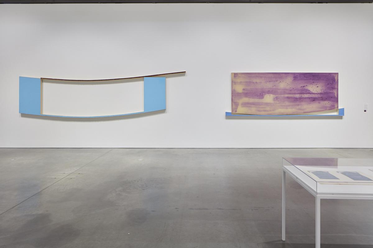 Harvey Quaytman, Left: 'Roadrunner,' 1970; Right: 'A Street Called Straight,' 1970.