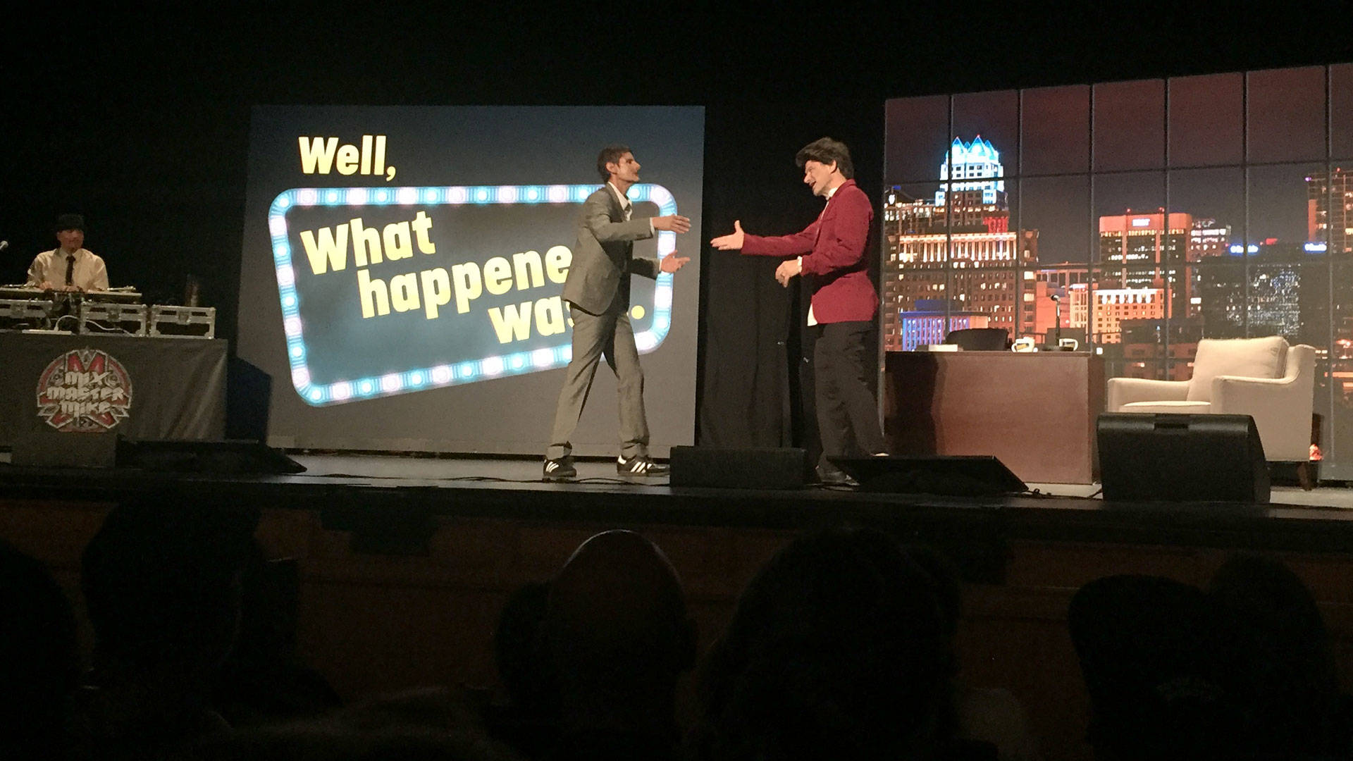 The Beastie Boys' Mike D and Ad Rock at City Arts & Lectures, Nov. 6, 2018. Gabe Meline/KQED