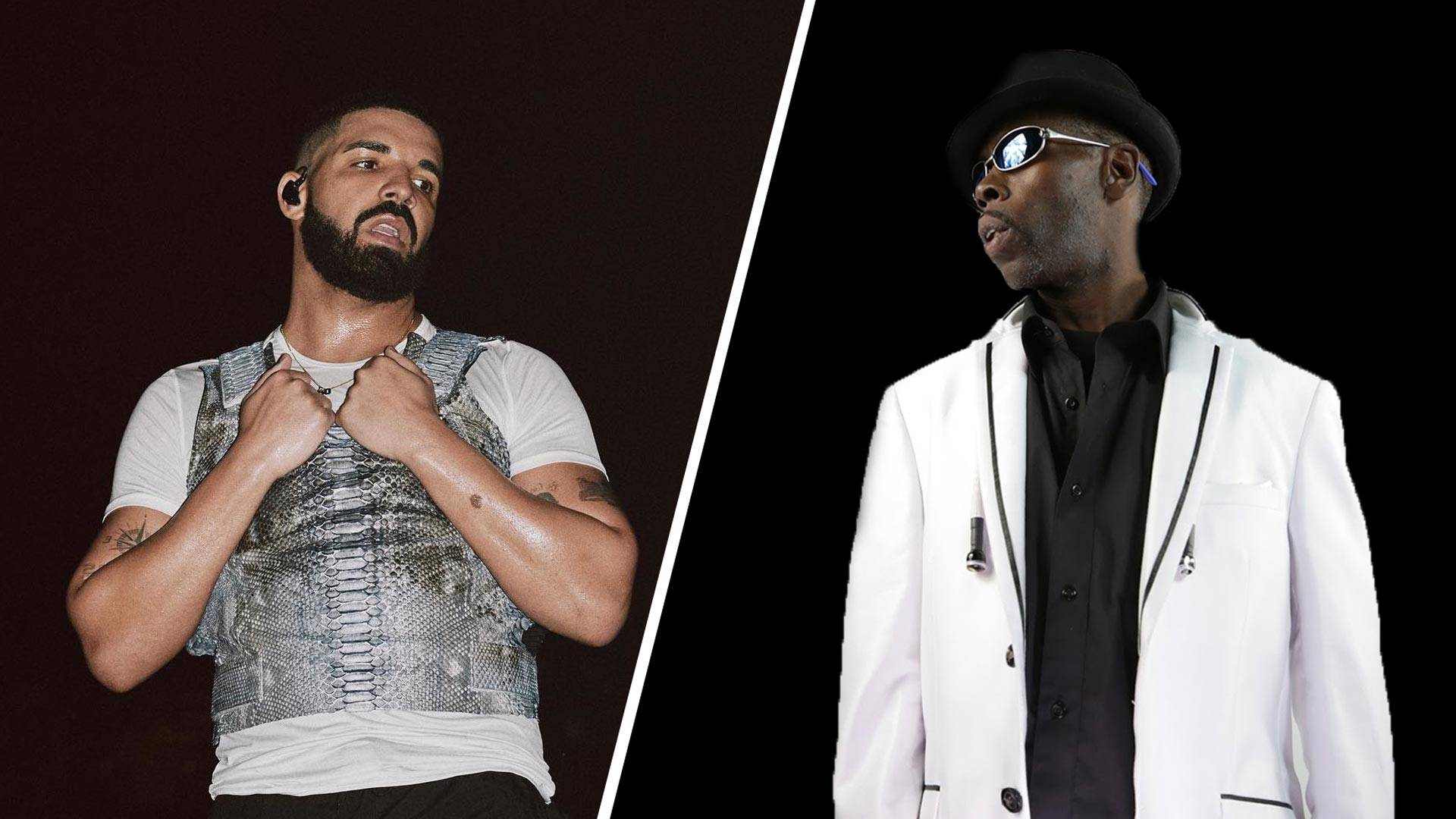 Drake and Rappin' 4-Tay (L–R). Drake was made to pay $100,000 in 2014 for stealing lines from Rappin' 4-Tay's 'Playaz Club.' via Instagram