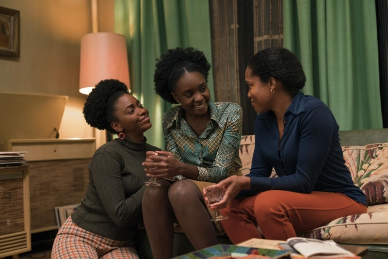 L to R: Teyonah Parris as Ernestine, KiKi Layne as Tish, and Regina King as Sharon star in Barry Jenkins' 'If Beale Street Could Talk.'
