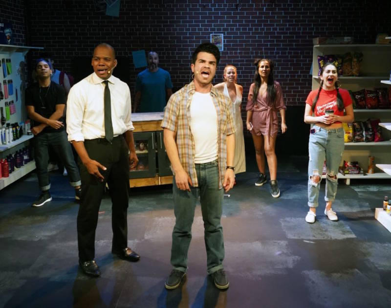 ensemble photo of 'In the Heights' cast at Custom Made Theatre