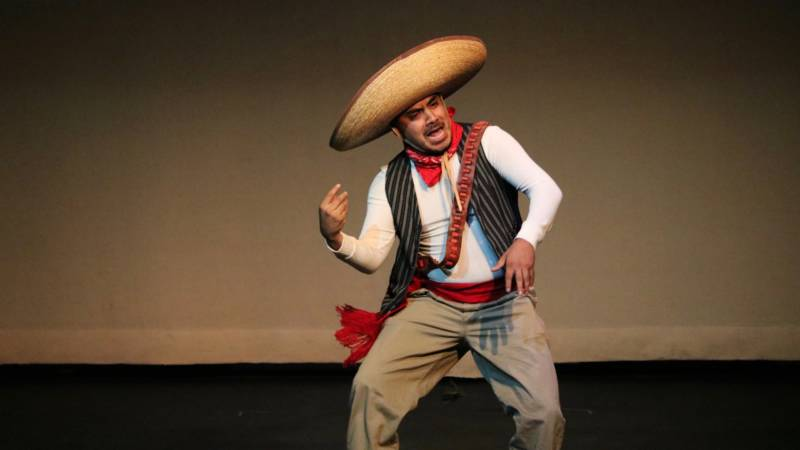 """The Mexican """"Goldhat,"""" played by actor Lorenzo Gonzalez, plays off of Gustavo Arellano's stereotype-busting column, """"Ask a Mexican."""""""