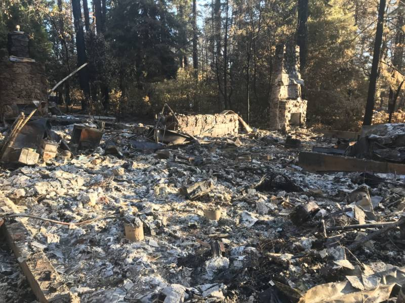 One of more than 6,400 homes destroyed in Paradise, California.
