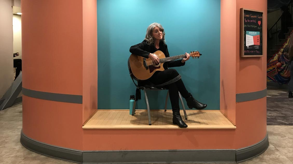 Paige Clem performs at 'Romantic Songs of the Patriarchy' at the Women's Building in San Francisco.