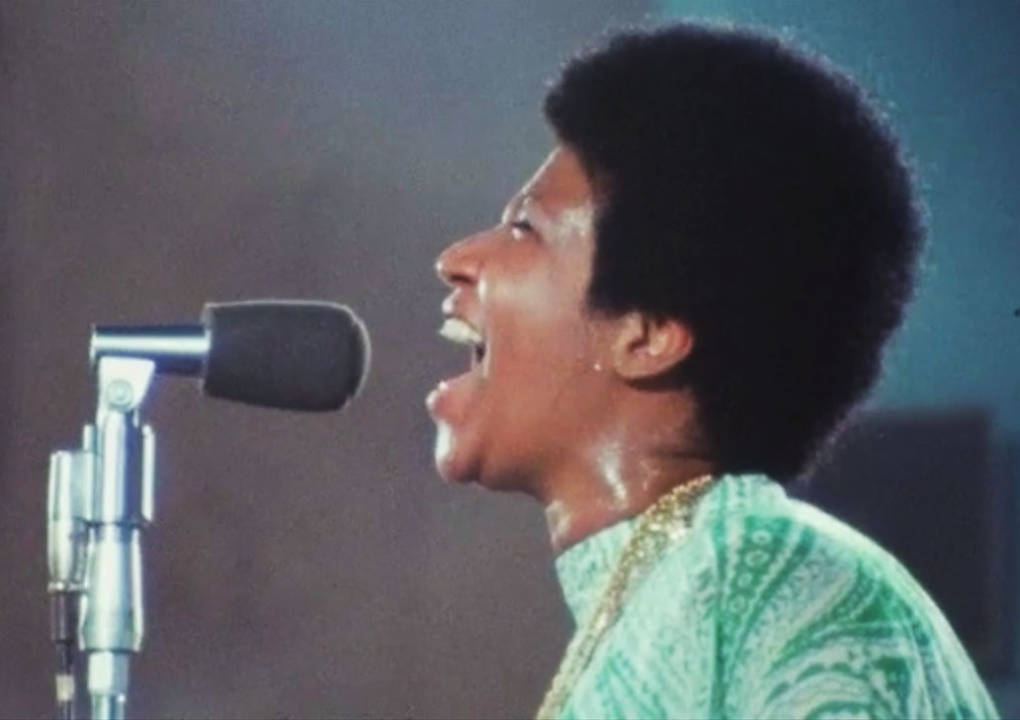 Singer Aretha Franklin in a still from the documentary Amazing Grace.