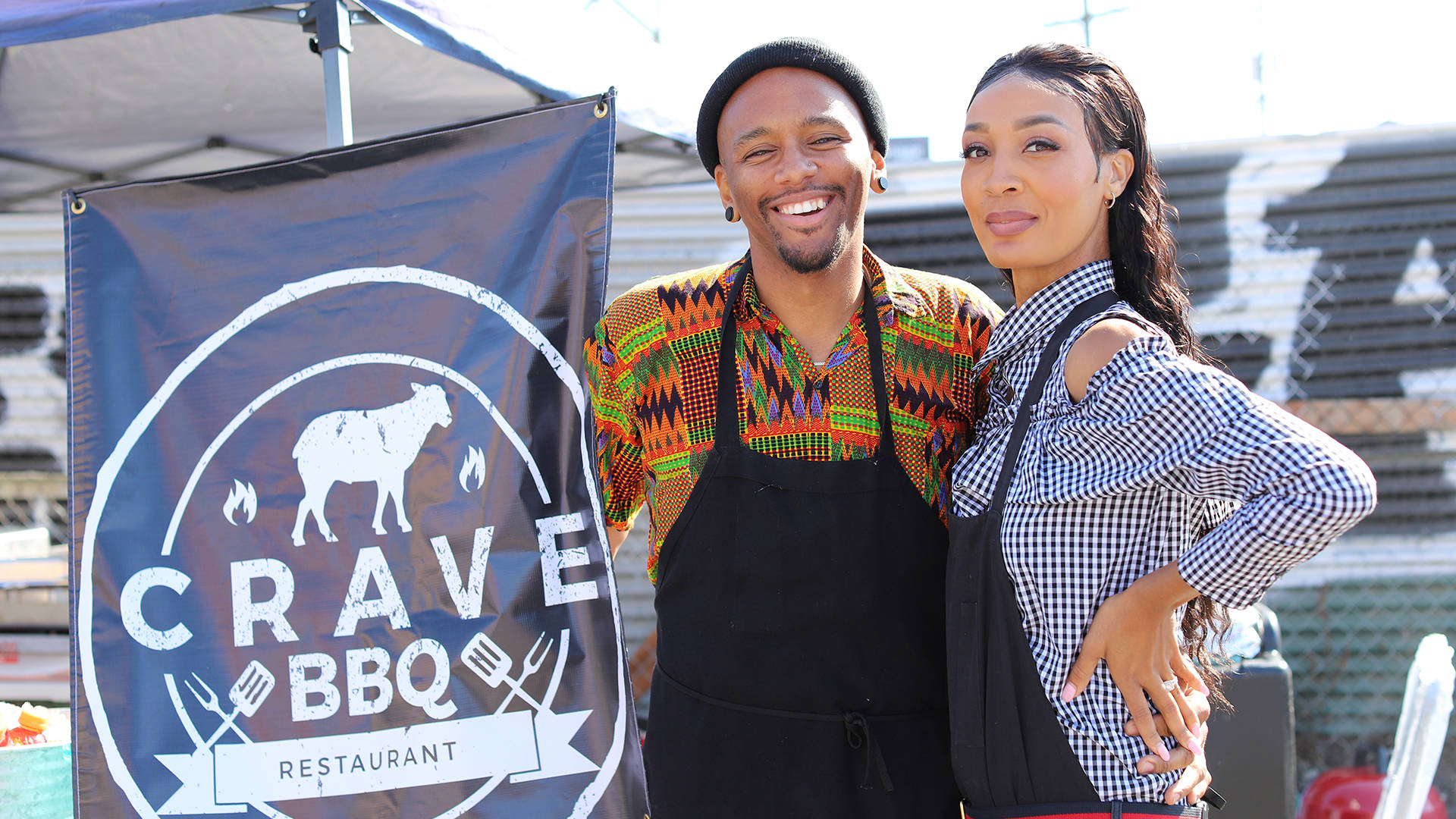 Rashad and Chandi Armstead (L–R) will soon be commercial tenants at the California Hotel, which is at the center of EBALDC's efforts to establish an African–American-focused cultural hub on Oakland's San Pablo Avenue. Nastia Voynovskaya/KQED