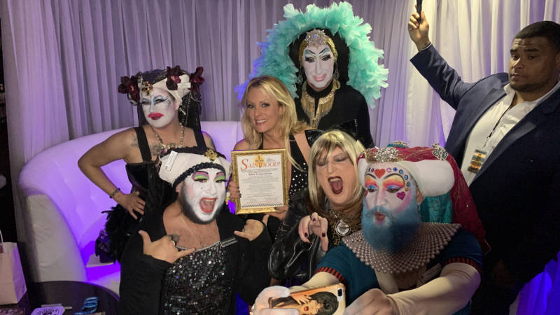 The Sisters of Perpetual Indulgence and Stormy Daniels at Penthouse on Nov. 10.