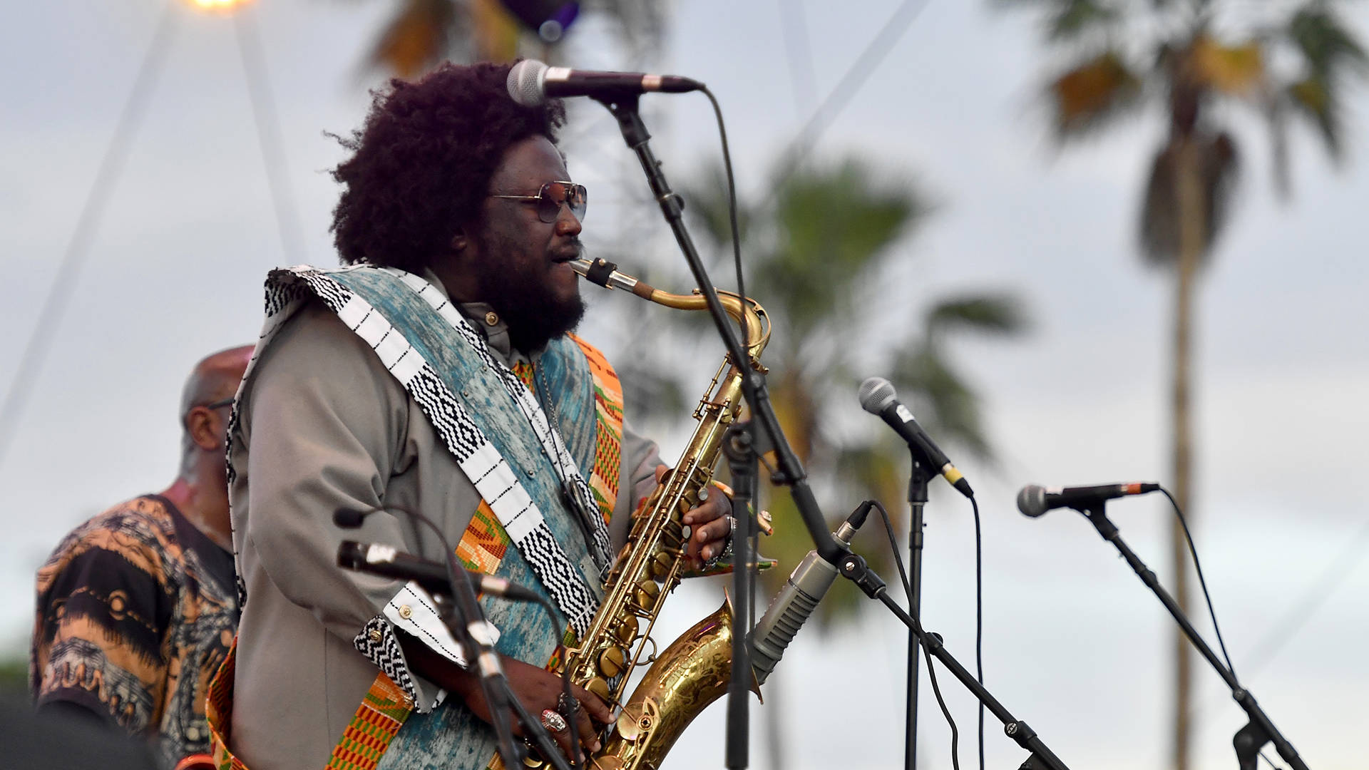 Kamasi Washington performs at the 2018 Coachella Valley Music and Arts Festival Weekend 1 at the Empire Polo Field on April 15, 2018 in Indio, California.   Frazer Harrison/Getty Images for Coachella