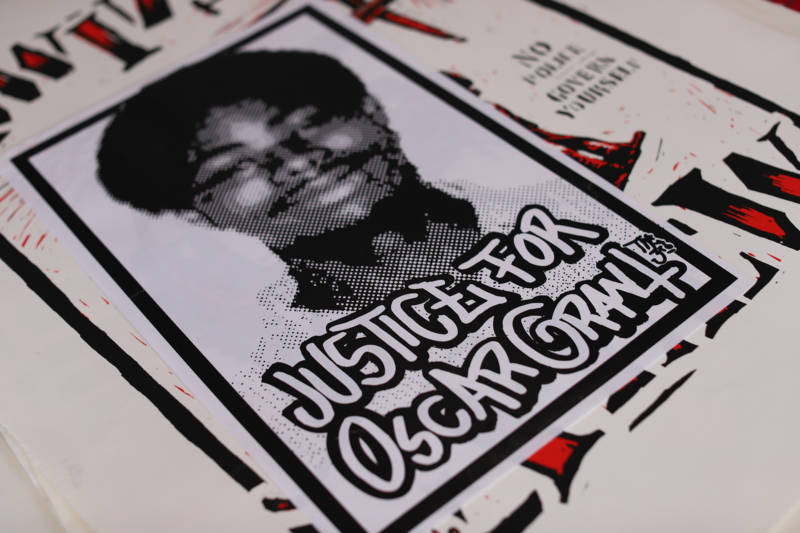 A Justice for Oscar Grant poster by street artist Broke.