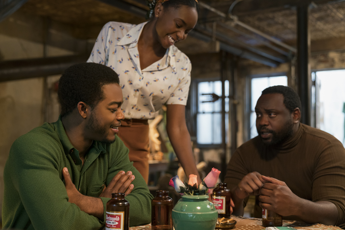 Stephan James as Fonny, KiKi Layne as Tish, and Brian Tyree Henry as Daniel Carty star in Barry Jenkins' 'If Beale Street Could Talk.'