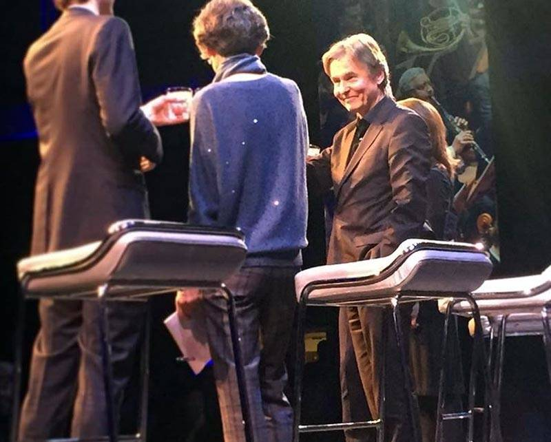 Esa-Pekka Salonen accepts his appointment as new Music Director of the San Francisco Symphony at a welcome party, Dec. 5, 2018.