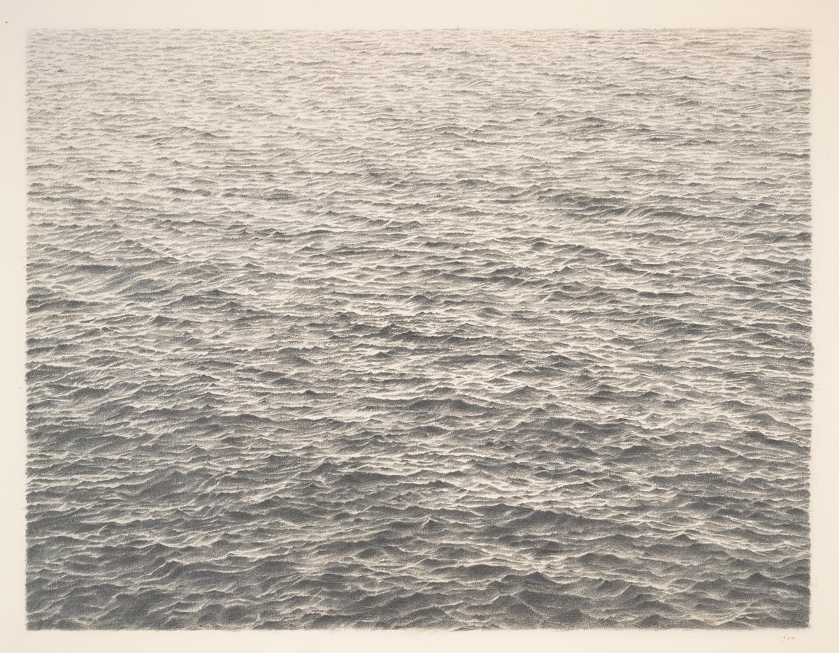 Vija Celmins, 'Untitled (Ocean),' 1977.