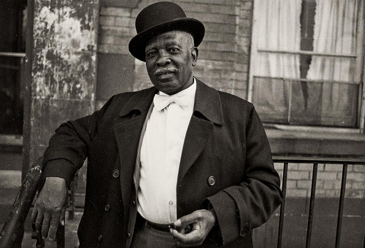 Dawoud Bey, 'Harlem U.S.A. (A Man in Bowler Hat, 1977),' 1976.