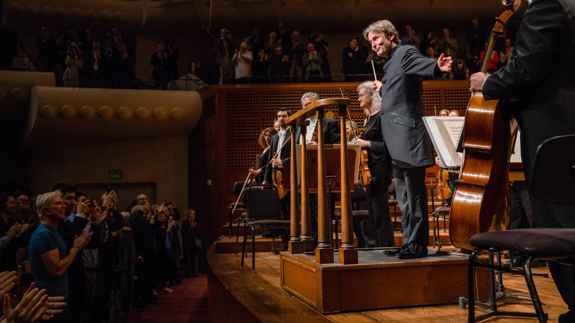 Esa-Pekka Salonen conducts the San Francisco Symphony on Jan. 18, 2019.  Brandon Patoc/San Francisco Symphony