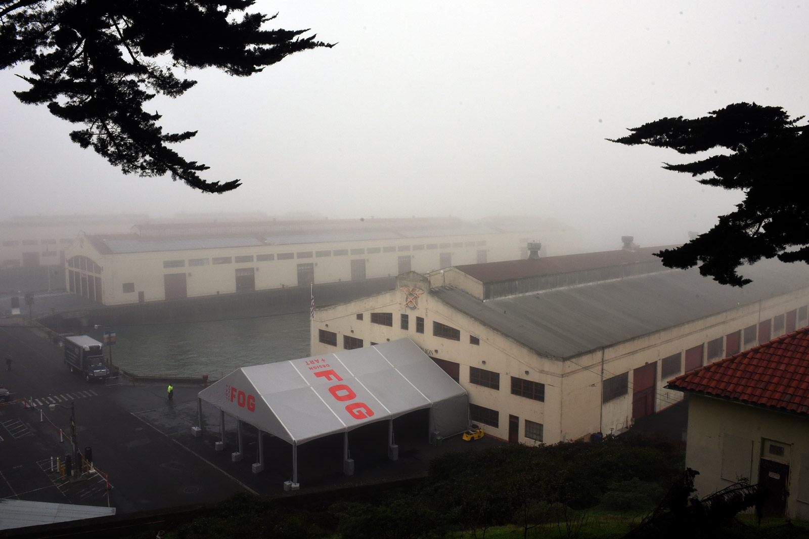 Last year's FOG Design+Art, fittingly, in the fog of Fort Mason.