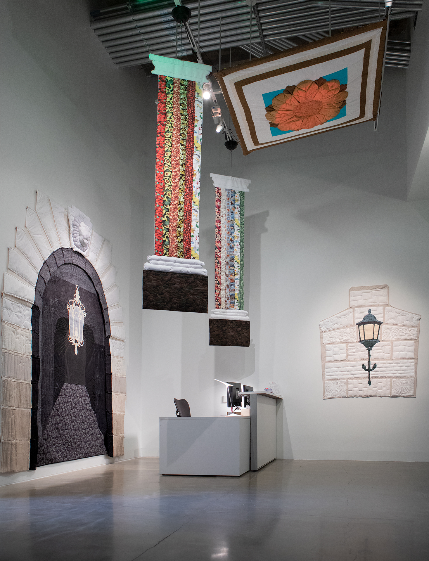 Installation view of Mik Gaspay, May Gaspay and Lleva Abenes' installation 'Fiber Structure,' at the SFAC Gallery.