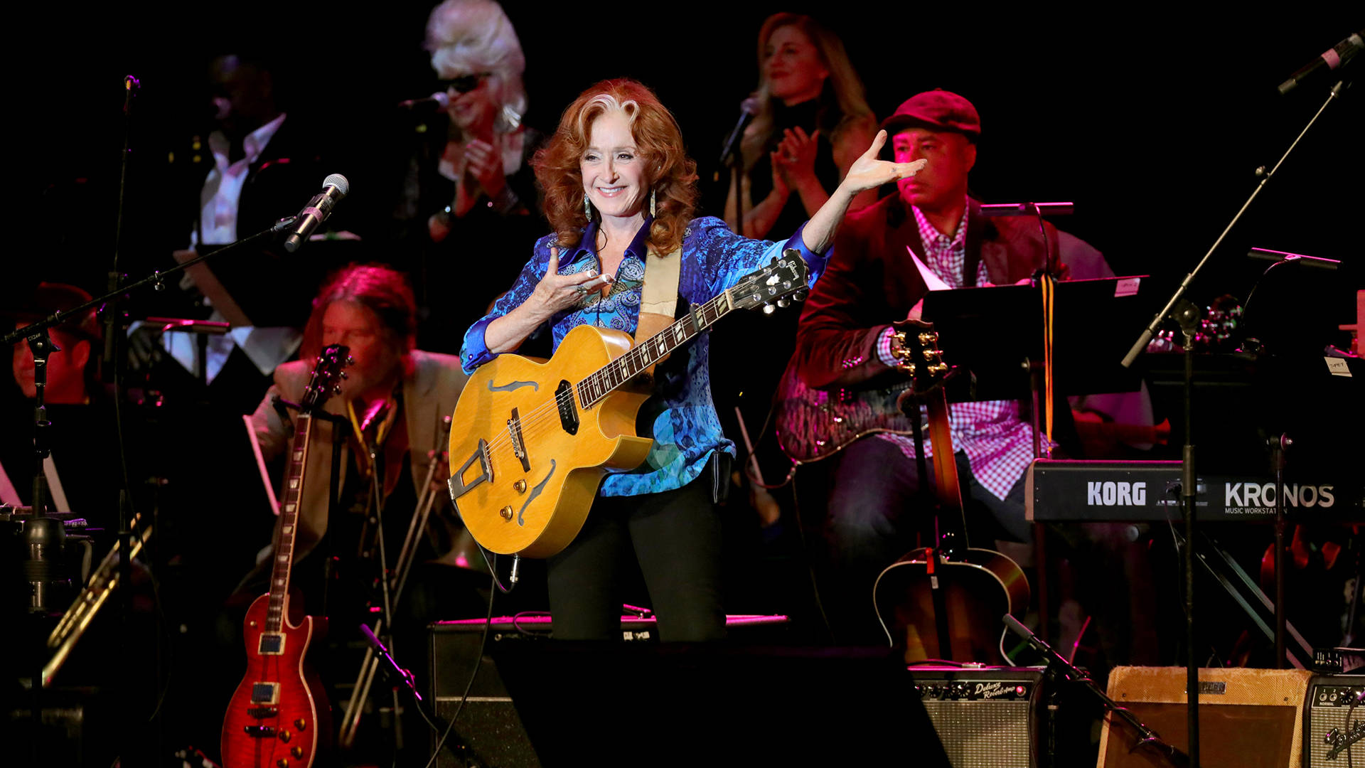 Bonnie Raitt performs onstage during the Little Kids Rock Benefit 2017 at PlayStation Theater on October 18, 2017 in New York City.   Cindy Ord/Getty Images for Little Kids Rock