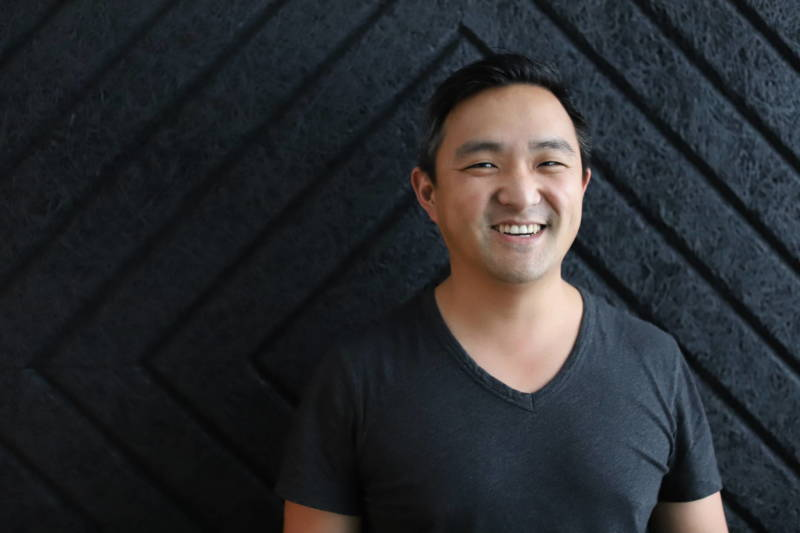 Josh Kim, Chief Operating Officer of Bandcamp, in the company's new Oakland offices.