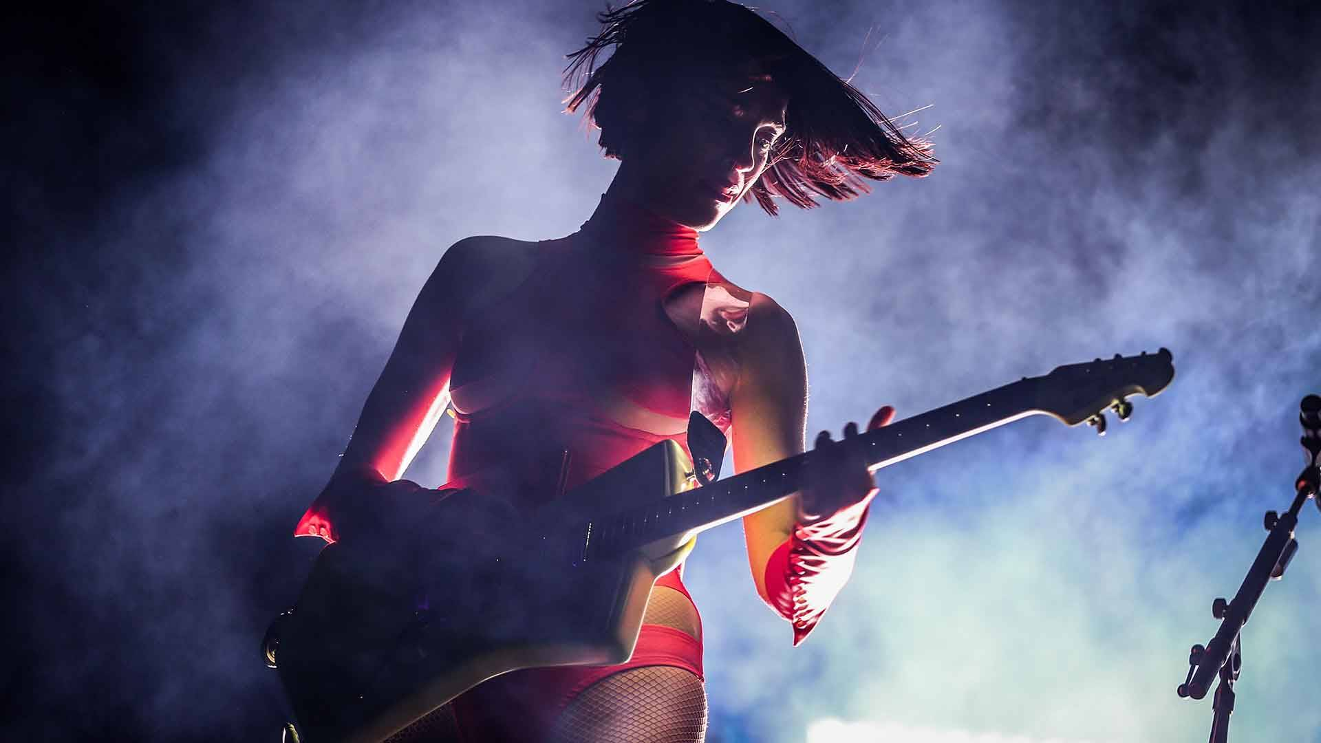 St. Vincent performs onstage at Coachella on April 20, 2018. Rich Fury/Getty Images for Coachella