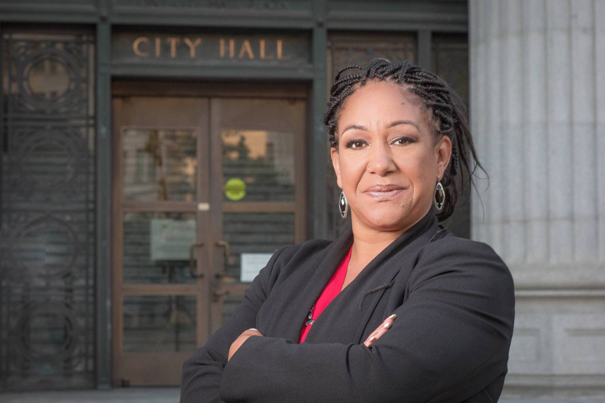 Cat Brooks during her 2018 campaign for Oakland Mayor.
