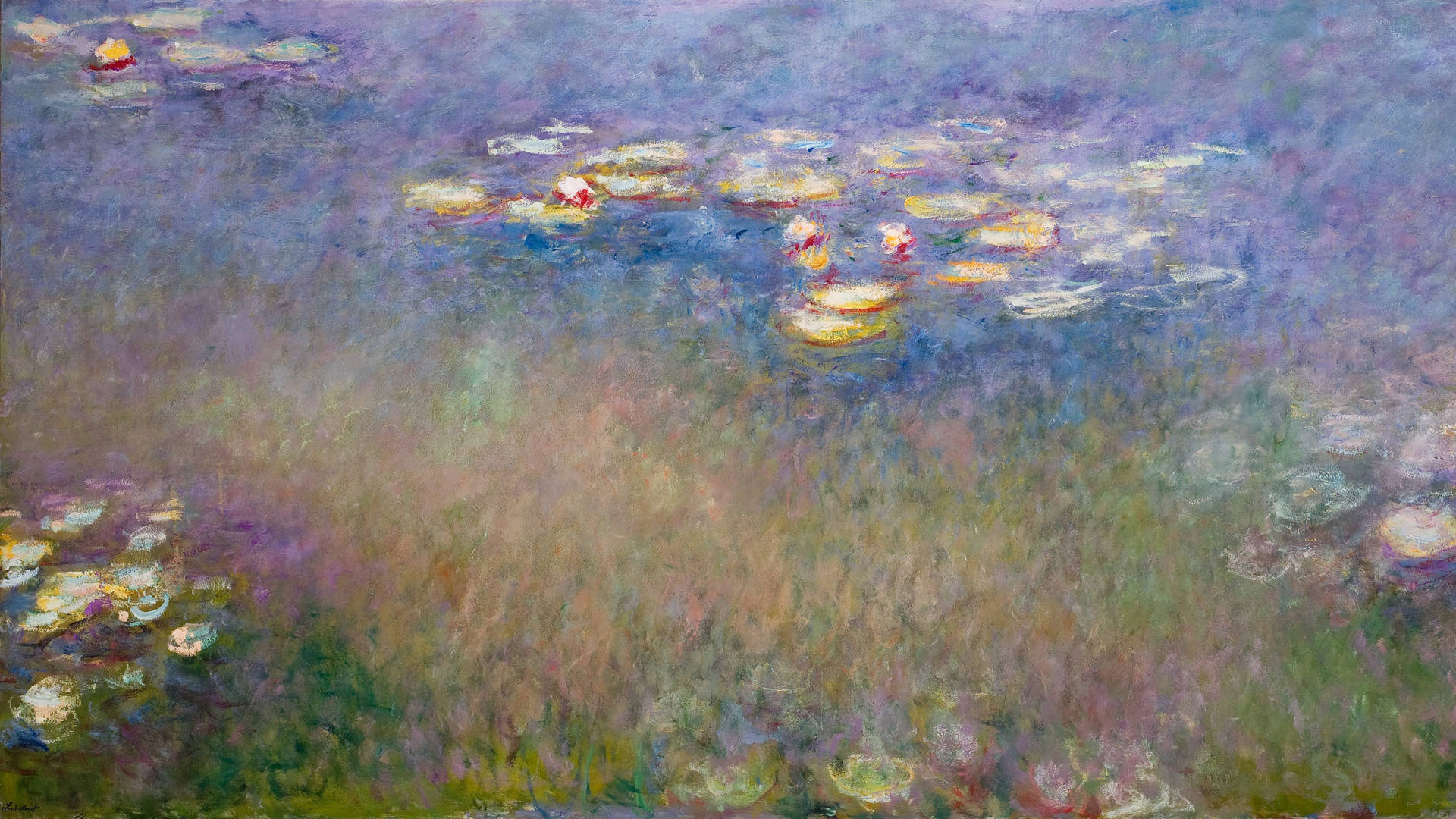 Claude Monet, 'Water Lilies (Agapanthus),' c. 1915-26. Courtesy of the Fine Arts Museums of San Francisco