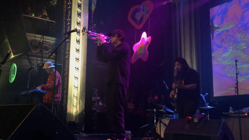Cuco performs at the Regency Ballroom in San Francisco on Feb. 16.