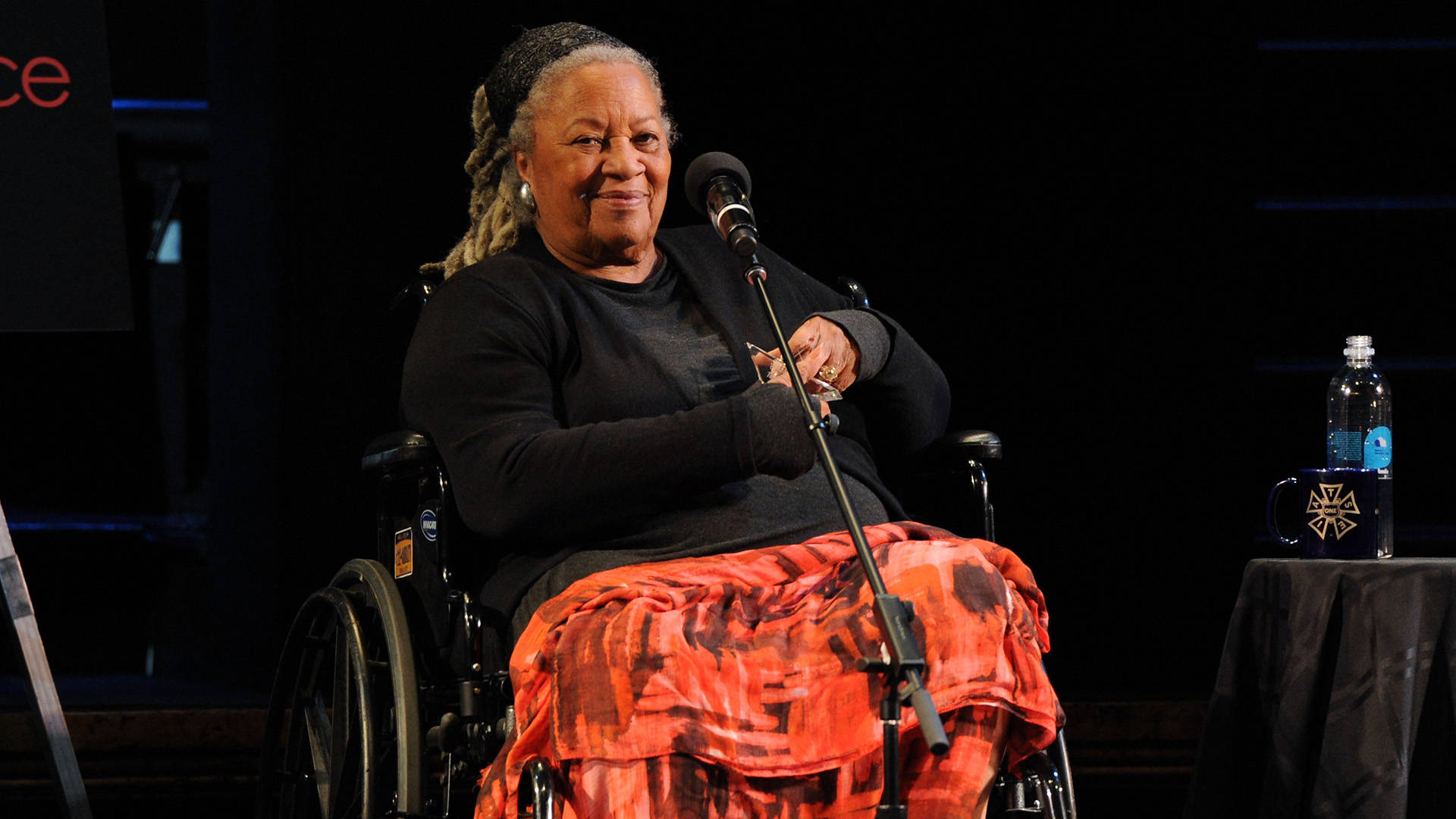 Toni Morrison attends Art & Social Activism, a discussion on Broadway with Ta-Nehisi Coates, Toni Morrison and Sonia Sanchez on June 15, 2016 in New York City.  Craig Barritt/Getty Images for The Stella Adler Studio of Acting