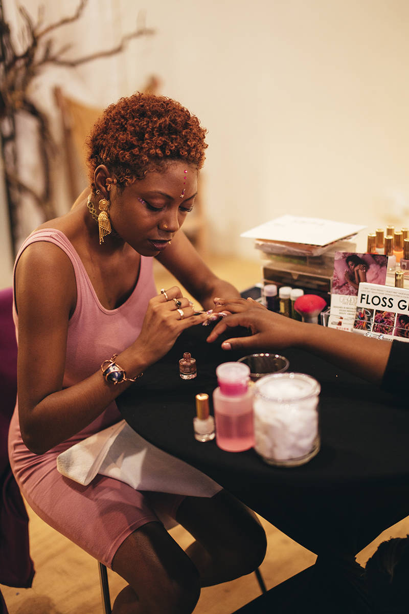 Nail artist Nakira Glasgow offered free manicures to high school girls at FLYGURLZCLUB's back-to-school event.