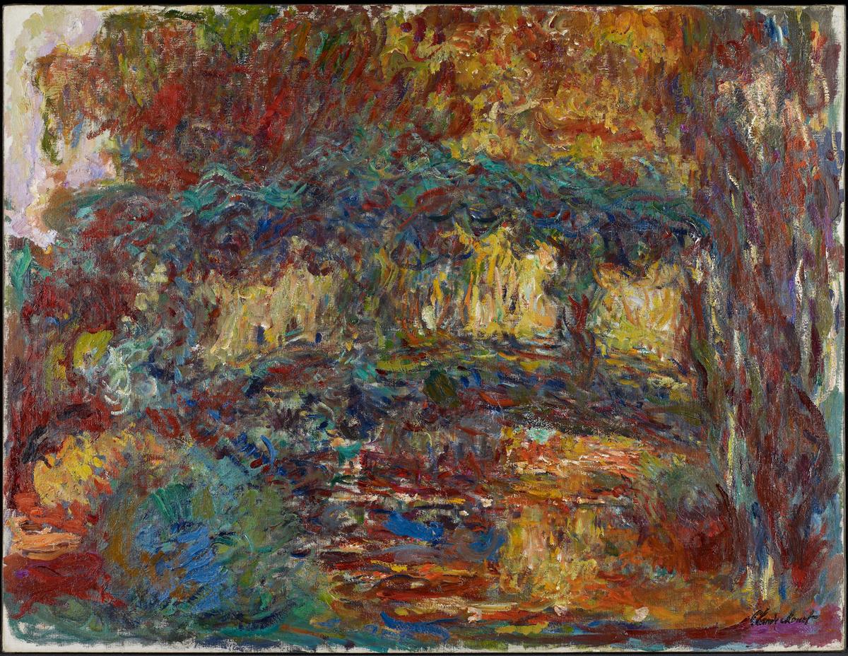 Claude Monet, 'The Japanese Bridge,' c. 1923-25.